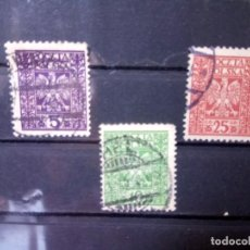 Sellos: POLONIA 1928, ESCUDO, YT 346/348. Lote 151094526