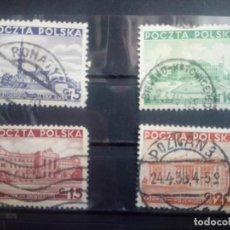 Sellos: POLONIA 1937, VISTAS DEL PAÍS, YT 391/394. Lote 151368518