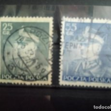 Sellos: POLONIA 1937, MARISCAL SMIGLY RYDZ, YT 395/396. Lote 151368850