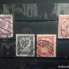 Timbres: POLONIA 1933/35, SELLOS DE SERVICIO, ESCUDO NACIONAL, YT 17/20. Lote 151370990