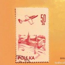 Sellos: POLONIA - POLSKA - EDIFICO Y AVIÓN.. Lote 151427606