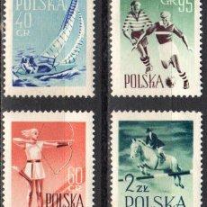 Sellos: POLONIA - 1 SERIE IVERT 952-55 (4 VALORES) - DEPORTES 1959 - NUEVO GOMA ORIGINAL. Lote 151477954