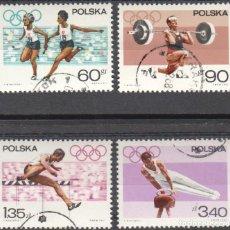 Sellos: POLONIA - 4 SELLOS IVERT 1618-21 (4 VALORES) - SERIE OLIMPICA 1967 - NUEVO MATASELLADO CON GOMA. Lote 151549322