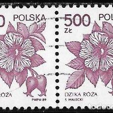 Sellos: POLONIA. FLORA. PLANTAS MEDICINALES 1989 USADO. Lote 152568266