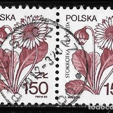 Sellos: POLONIA. FLORA. PLANTAS MEDICINALES 1989 USADO. Lote 152568346