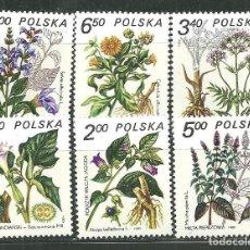 Sellos: POLONIA 1980 IVERT 2523/8 *** PLANTAS MEDICINALES - FLORA. Lote 152885778