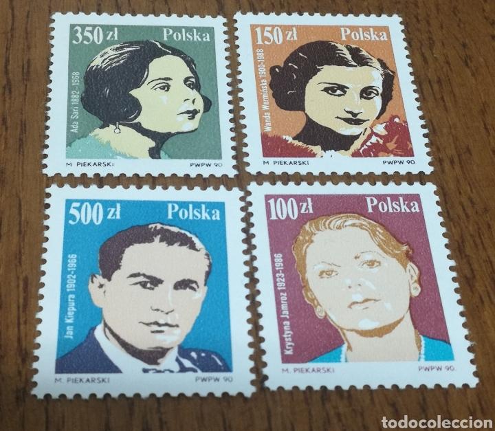 POLONIA:3060/63 MNH, MÚSICA, AÑO 1990 (Sellos - Extranjero - Europa - Polonia)