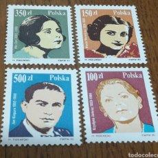 Sellos: POLONIA:3060/63 MNH, MÚSICA, AÑO 1990. Lote 154892393
