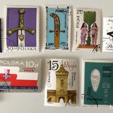Sellos: LOTE DE 10 SELLOS CTO CON G.O. DE POLONIA- VARIADOS. Lote 155559738