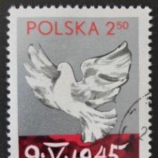 Sellos: SELLO CTO CON G.O. DE POLONIA 2.50 1980- PALOMA. Lote 155854856