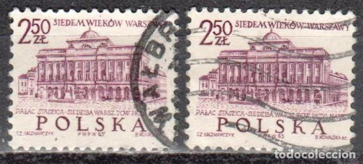 POLONIA - DOS SELLOS - IVERT #1456 - ***700 ANIVERSARIO DE VARSOVIA*** - AÑO 1965 - USADOS (Sellos - Extranjero - Europa - Polonia)