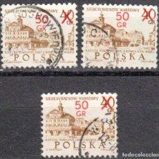 Sellos: POLONIA - TRES SELLOS - IVERT #2041 - ***700 ANIVERSARIO DE VARSOVIA*** - AÑO 1972 - USADOS. Lote 157747418