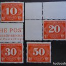 Sellos: POLONIA GENERAL GOUVERNEMENT 1940, TASAS YVERT 1-4, MICHEL 1-4 SERIE COMPLETA. Lote 161333578