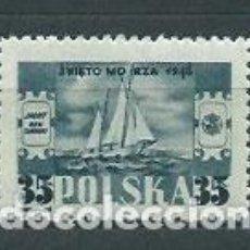 Sellos: POLONIA - CORREO 1948 YVERT 520 * MH BARCO. Lote 163061373
