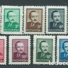 Sellos: POLONIA - CORREO 1948 YVERT 529/37 * MH PERSONAJES BOLESLAW BIERUT. Lote 163061393
