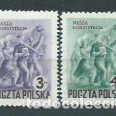 Sellos: POLONIA - CORREO 1952 YVERT 664/5 * MH. Lote 163061597