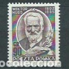 Sellos: POLONIA - CORREO 1952 YVERT 679 * MH PERSONAJE. Lote 163061645