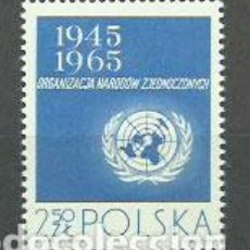 Sellos: POLONIA - CORREO 1965 YVERT 1482 ** MNH NACIONES UNIDAS. Lote 163062805