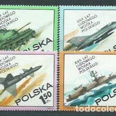 Sellos: POLONIA - CORREO 1973 YVERT 2115/8 ** MNH AVIÓN. BARCO. Lote 163063574