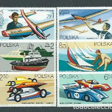Sellos: POLONIA - CORREO 1981 YVERT 2573/8 ** MNH DEPORTES. Lote 163064328