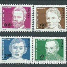 Sellos: POLONIA - CORREO 1981 YVERT 2588/91 ** MNH PERSONAJES. Lote 163064348
