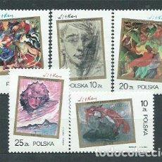 Sellos: POLONIA - CORREO 1985 YVERT 2818/22 ** MNH. Lote 163064732