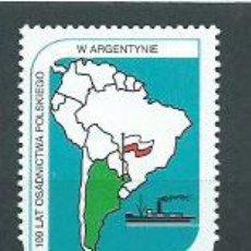 Sellos: POLONIA - CORREO 1997 YVERT 3441 ** MNH BARCO. Lote 163065297