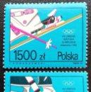 Sellos: 1992. DEPORTES. POLONIA. 3171 / 3172. JUEGOS OLÍMPICOS ALBERTVILLE. SERIE COMPLETA. NUEVO.. Lote 163950370