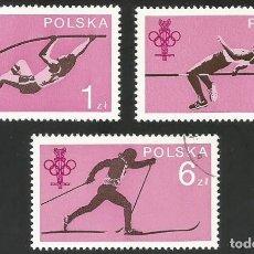Sellos: POLONIA 1979 - PL 2612 A PL 2614 - DEPORTES - 3 SELLOS USADOS. Lote 163989630