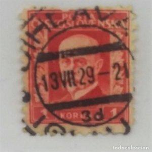 1929 circulado POSTA CESKOSLOVENSKA. 1 Koruna
