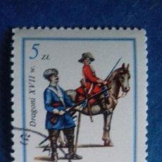Sellos: POLONIA 1983. YVERT 2683. EJÉRCITO DEL REY JUAN III SOBIESKI, SIGLO XVII: DRAGONES. MATASELLADO.. Lote 166463906