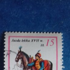 Sellos: POLONIA 1983. YVERT 2685. EJÉRCITO DEL REY JUAN III SOBIESKI SIGLO XVII: CABALLERÍA LIGERA. USADO. Lote 166464026