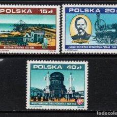 Selos: POLONIA 2986/88** - AÑO 1988 - 70º ANIVERSARIO DE LA RESTAURACION DE LA INDEPENDENCIA - TRENES. Lote 171041257