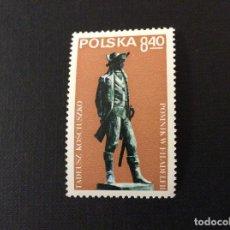Sellos: POLONIA Nº YVERT 2454*** AÑO 1979. MONUMENTO EN FILADELFIA A T. KOSCIUSZKO, PATRIOTA POLACO. Lote 171460353