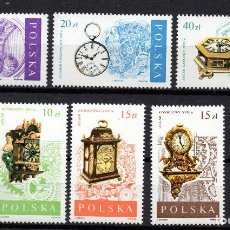 Selos: POLONIA 2949/54** - AÑO 1988 - RELOJES Y MONTURAS. Lote 171991838