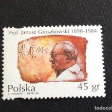 Sellos: POLONIA Nº YVERT 3353*** AÑO 1995. HOMENAJE A L PROFESOR JANUSZ GROSKOWSKI. Lote 172029005