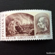 Francobolli: POLONIA Nº YVERT 2899*** AÑO 1987. 150 ANIVERSARIO NACIMIENTO DE ARTUR GROTTGER. Lote 172797170