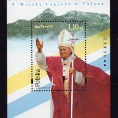 Sellos: POLONIA HB 140** - AÑO 1997 - VISITA DEL PAPA JUAN PABLO II. Lote 173230738