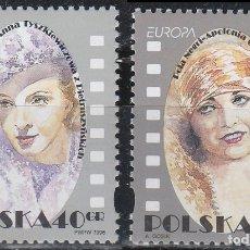 Sellos: POLONIA, POLA NEGRI Y HANKA ODONOWNA, ACTRICES DE CINE, NUEVO ***, SERIE COMPLETA. Lote 176259699