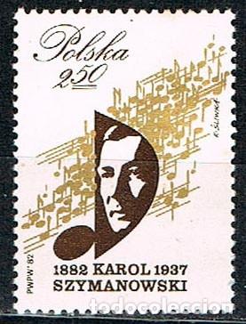 POLONIA 2806, CENTENARIO DEL COMPOSITOR KAROL SZYMANOWSKI, MÚSICA, NUEVO *** (Sellos - Extranjero - Europa - Polonia)