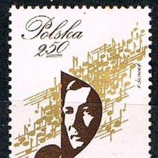 Sellos: POLONIA 2806, CENTENARIO DEL COMPOSITOR KAROL SZYMANOWSKI, MÚSICA, NUEVO ***. Lote 176269044