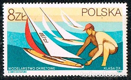 POLONIA 2768, MODERLISMO DEPORTIVO, BARCO, NUEVO SIN GOMA (Sellos - Extranjero - Europa - Polonia)