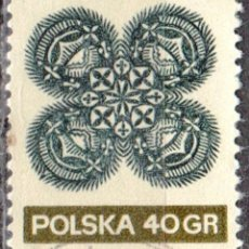 Sellos: POLONIA - UN SELLO - IVERT #1940 - ***ARTE POPULAR*** - AÑO 1971 - USADO. Lote 157746550