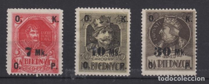 1917 POLONIA - POLAND SELLOS BENÉFICOS HABILITADOS NA BIEDNYCH (Sellos - Extranjero - Europa - Polonia)