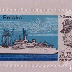 Sellos: SELLO POLONIA 1980, BARCO A. GARNUSZEWSKI. Lote 178919538