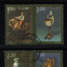 Sellos: POLONIA 3939/42 - AÑO 2005 - BICENTENARIO DEL MUSEO NACIONAL DE WILANOV. Lote 178960162