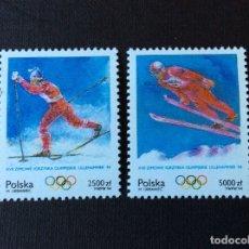 Sellos: POLONIA Nº YVERT 3272/3*** AÑO 1994. JUEGOS OLIMPICOS DE INVIERNO, EN LILLEHAMMER. Lote 180285512