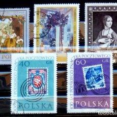 Sellos: SELLOS POLONIA- FOTO 301- USADOS 5 VALOREES. Lote 182395235