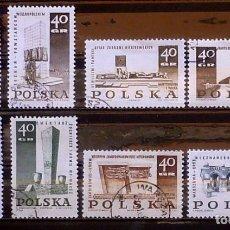 Sellos: SELLOS POLONIA - FOTO 959- USADO, 8 VALORES. Lote 182508827