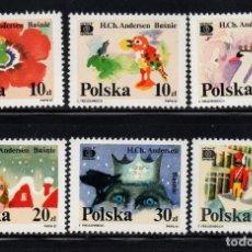 Selos: POLONIA 2931/36** - AÑO 1987 - ILUSTRACIONES DE CUENTOS DE ANDERSEN . Lote 187100191